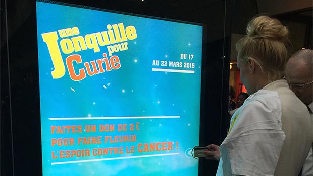 Institut Curie : première collecte numérique sans contact en gare de Paris-Montparnasse