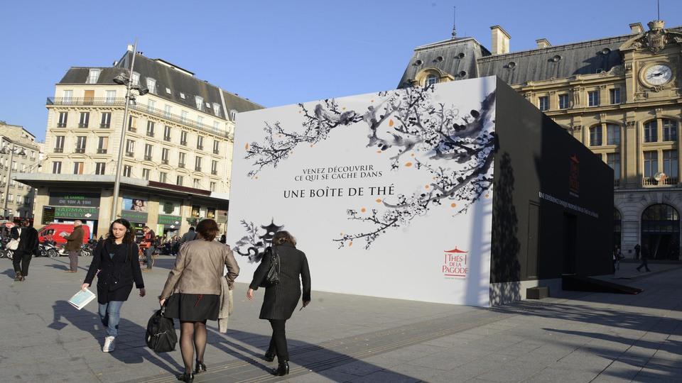 Du 9 au 11 avril, le parvis de la gare Saint-Lazare a été le théâtre d'une expérience unique proposée par les Thés de la Pagode